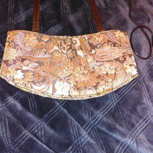 VICTORIA SECRET Brown & Gold Bag